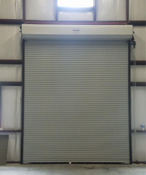 White Commercial Roll-up Door