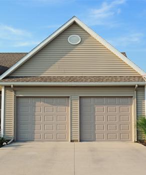 Tan Residential Garage Doors